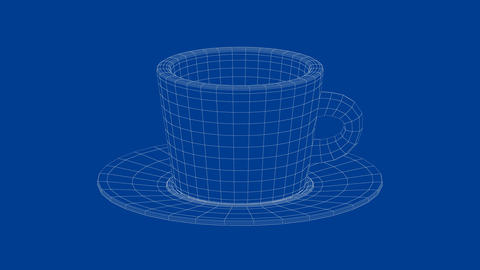 3d model of coffee cup Animation