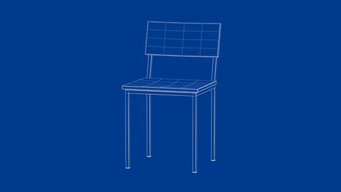3d model of dining chair Animation
