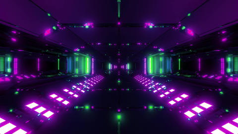 futuristic scifi tunnel corridor 3d illustration live wallpaper motion Animation
