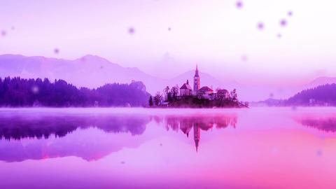 Lake Village Pink Particles Loop Animation