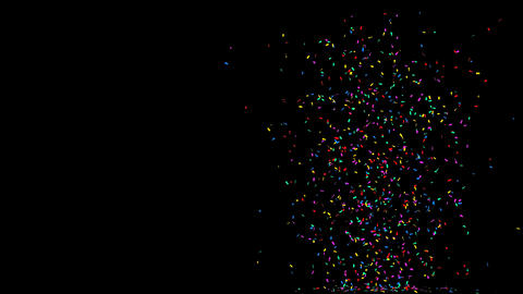 Confetti explosion and celebration with mov alpha transparent GIF