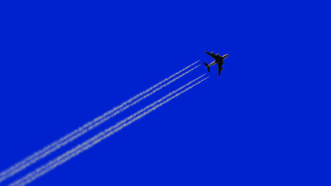 Airplane Flies Leaving a Trail Videos animados