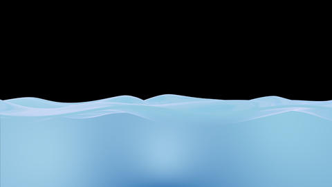 Water Waves Blue Animation