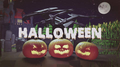 Halloween Logo After Effects Template