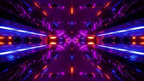 futuristic sci-fi hangar tunnel art with nice glass reflections 3d illustration Animation