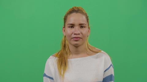 Close Up Shot Of An Woman Expressing Sadness Footage