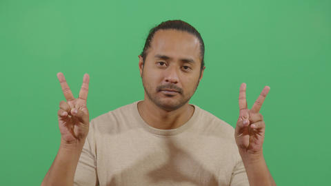 Adult Man Expressing Peace Footage