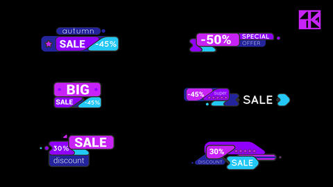 Sale Labels 4K After Effects Template