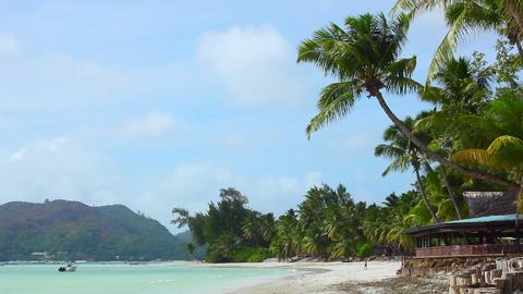Tropical beach view, Seychelles Live Action