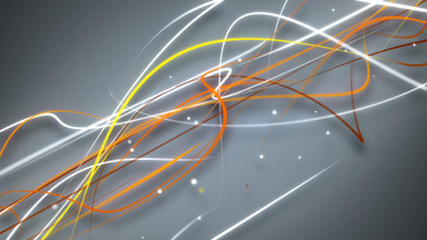 White and orange curvy strokes loopable background Animation