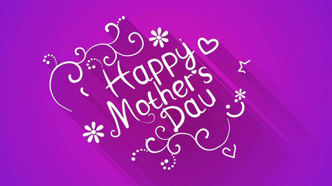 Happy mother's day text flat style animation Animation