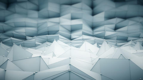 Polygonal surface waving loopable 3D render Animation