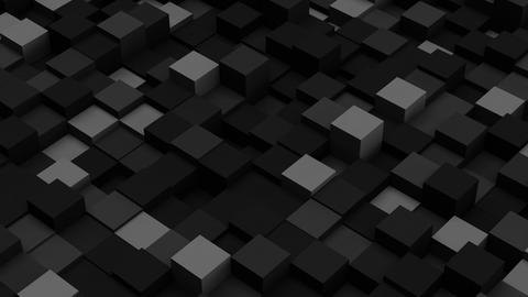 Dark grey 3D boxes. Loopable abstract background Animation