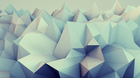 Low poly relief 3D render loop Animation