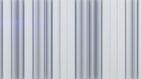 White vertical stripes 3D rendering Animation