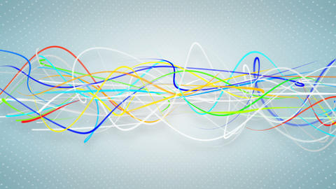 Multicolor curvy strokes loopable background Animation