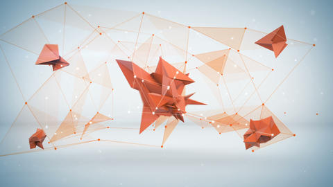 Futuristic network shape. Abstract 3d render animation loop Animation