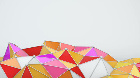 Bright low poly shape 3D render loop Animation