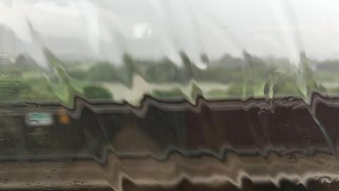 High-speed train in the rain-2 Footage