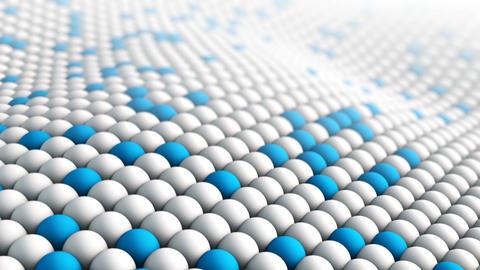 Macro texture waving. Seamless loop 3D render animation Animation