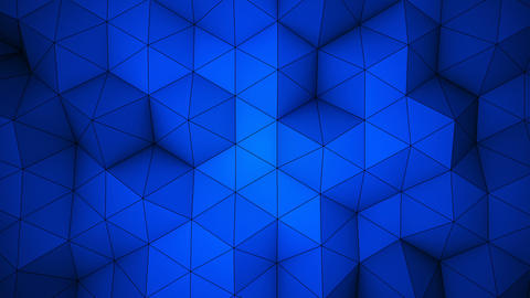 Blue triangle polygons background loopable Animation
