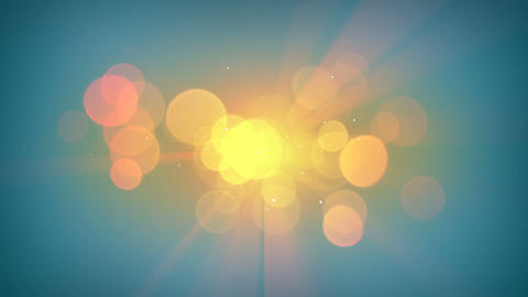 Sunshine and lens flares loopable animation Animation