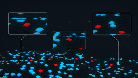 Analyzing cells structure 3D render. Seamless loop sci-fi animation Animation