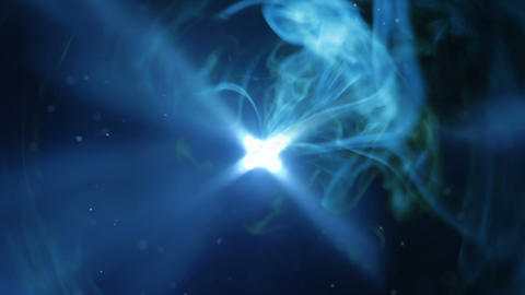 Blue light and flowing smoke seamless loop Animation