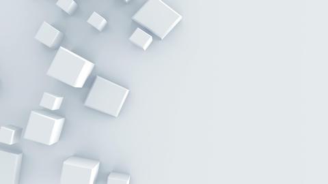 White geometric shape 3D render animation loop Footage