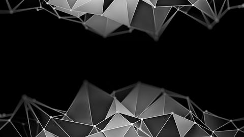 Low poly chrome constructions 3D render loop Live Action