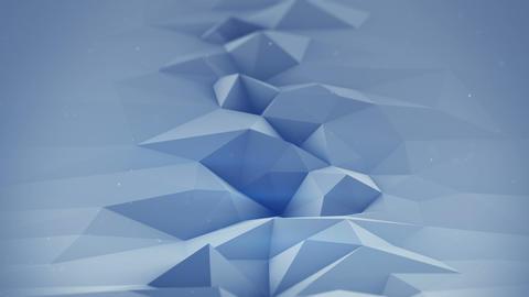 Blue polygonal surface waving seamles loop 3D render Live Action