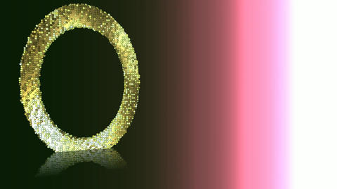13 animated background with particle effects with green oval Animation