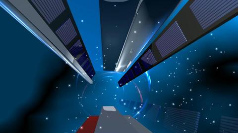 08 3d animated technical background Animation