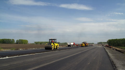 Timelapse Road construction Footage