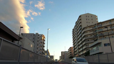 Traveling video. Uphill surrounded by fence ライブ動画