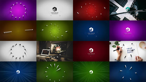 Minimal Lines Logo Reveal 6in1 Plantilla de After Effects