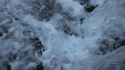 Water And Foam Background Video Live Action