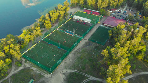 Soccer practice fields at a football club Footage
