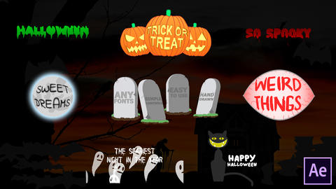 Halloween Titles After Effects Template
