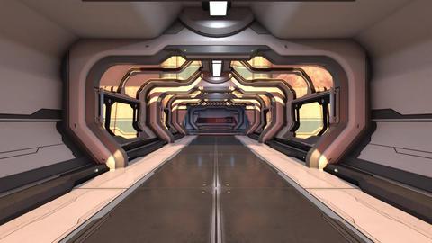 宇宙ステーションの通路 CG動画
