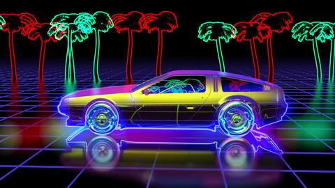 Retro futuristic background Animation