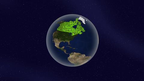 カナダ グロー ハイライト 地球 ループ アニメーション CG動画