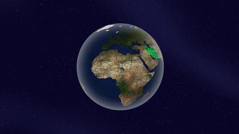 Earth Iran high light glow loop animation Animation
