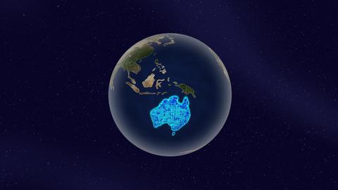 Earth australia high light glow loop animation Animation