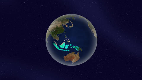 Earth indonesia high light glow loop animation Animation