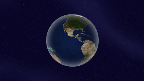 Earth indonesia high light glow loop animation, Stock Animation