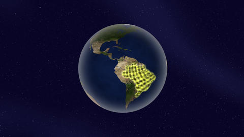 Earth Brazil high light glow loop animation Videos animados