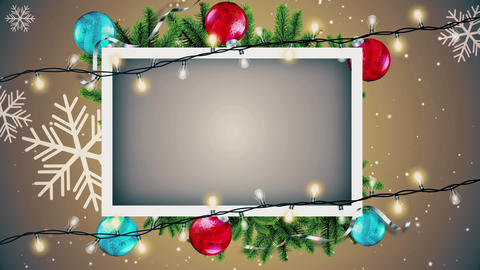 Christmas Frame Background Videos animados