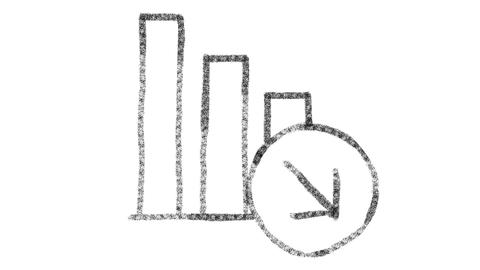 chart icon drawn with drawing style on chalkboard, animated footage ideal for GIF