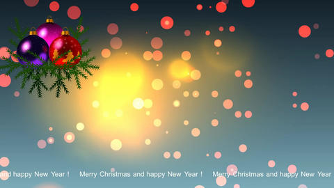 72 animated Christmas card with animated text Animation